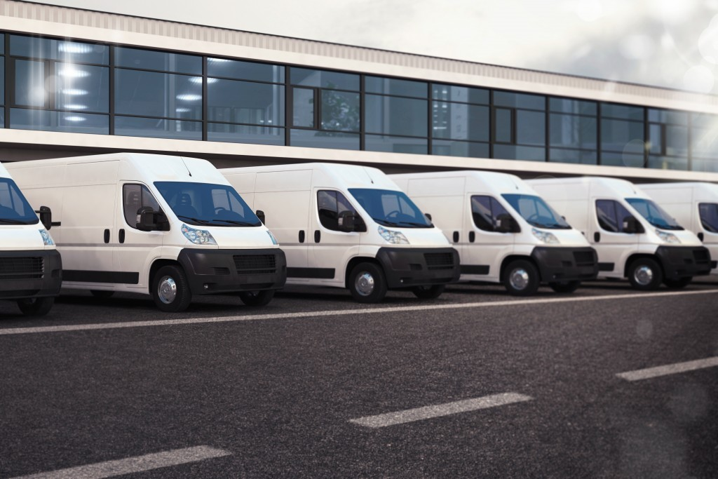 vans parked outside